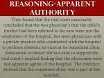 reasoning apparent authority