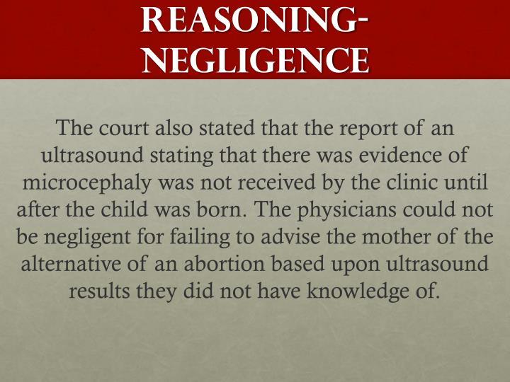 Reasoning-negligence
