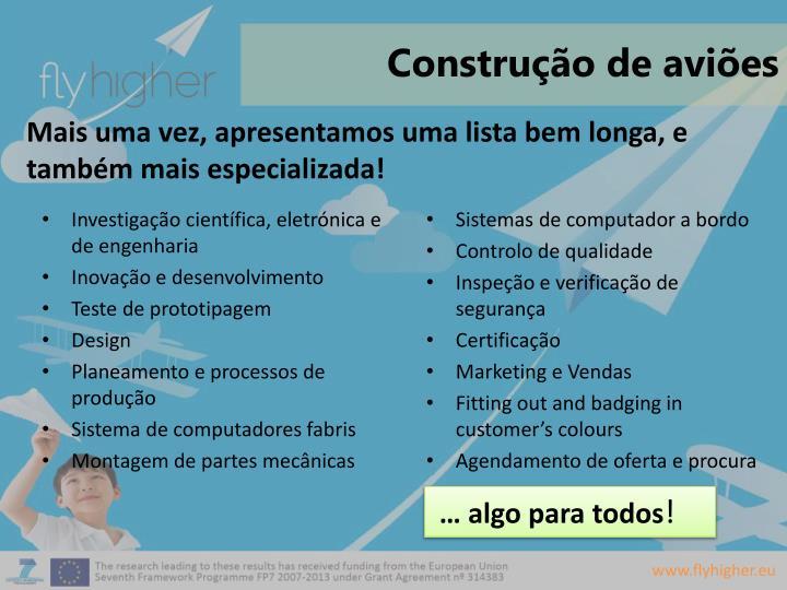 Construção de aviões