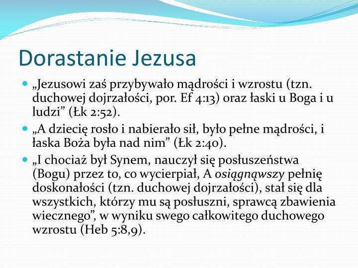 Dorastanie Jezusa