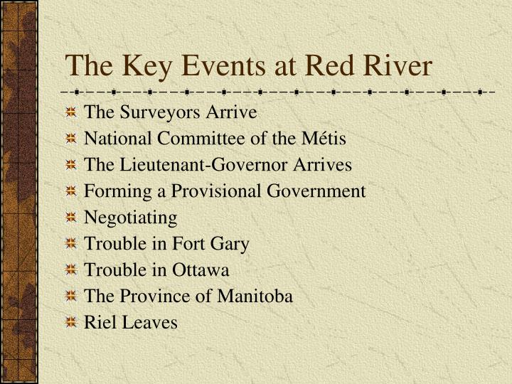 The Key Events at Red River