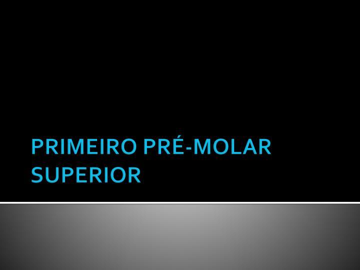 PRIMEIRO PRÉ-MOLAR SUPERIOR