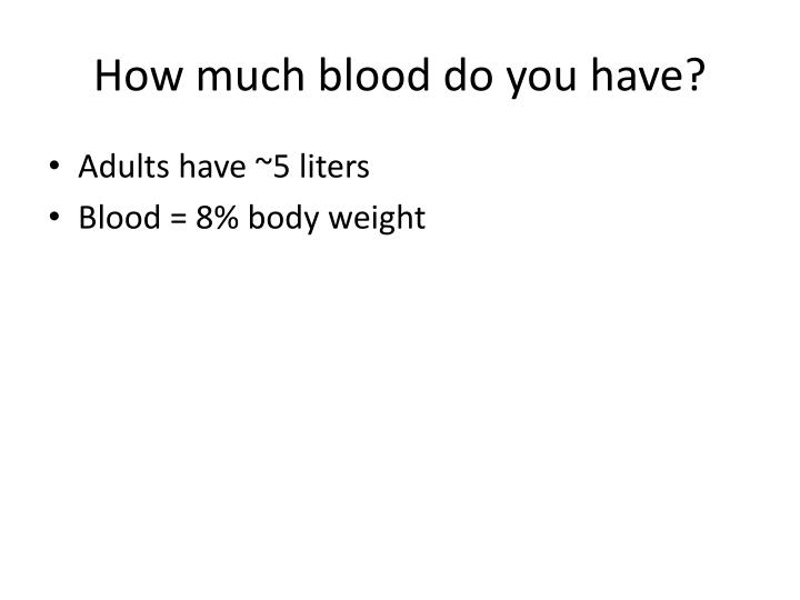 How much blood do you have?