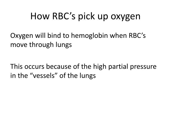 How RBC's pick up oxygen