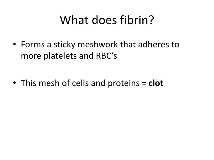 What does fibrin