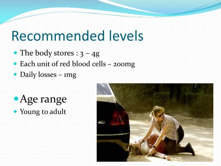 Recommended levels