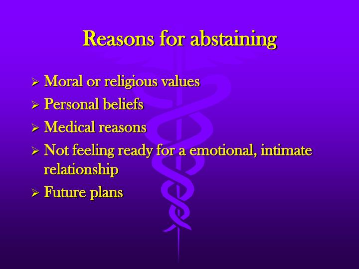 Reasons for abstaining
