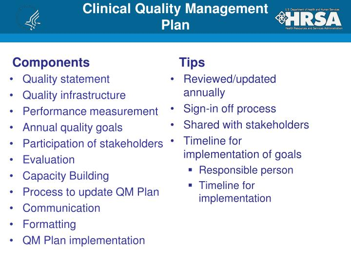 Clinical Quality Management