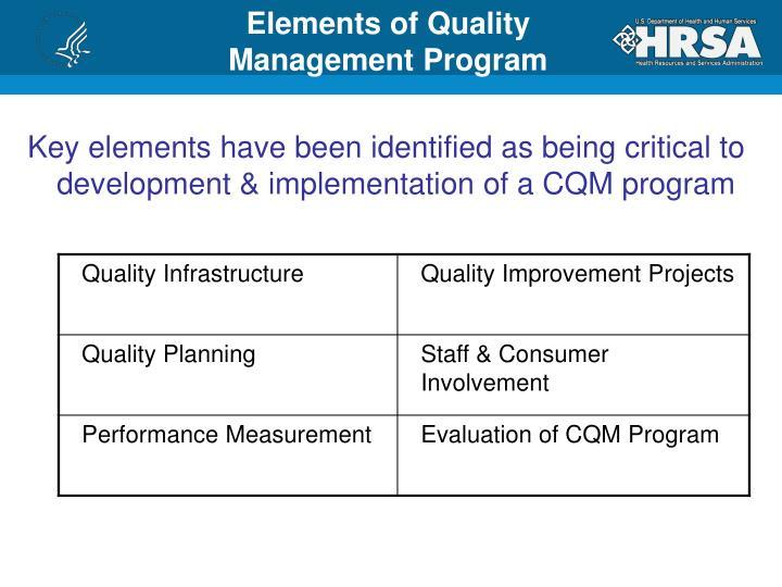 Elements of Quality