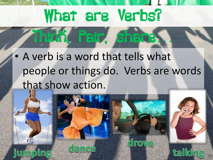 What are verbs think pair share