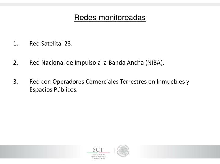 Redes monitoreadas