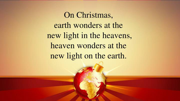 On Christmas,