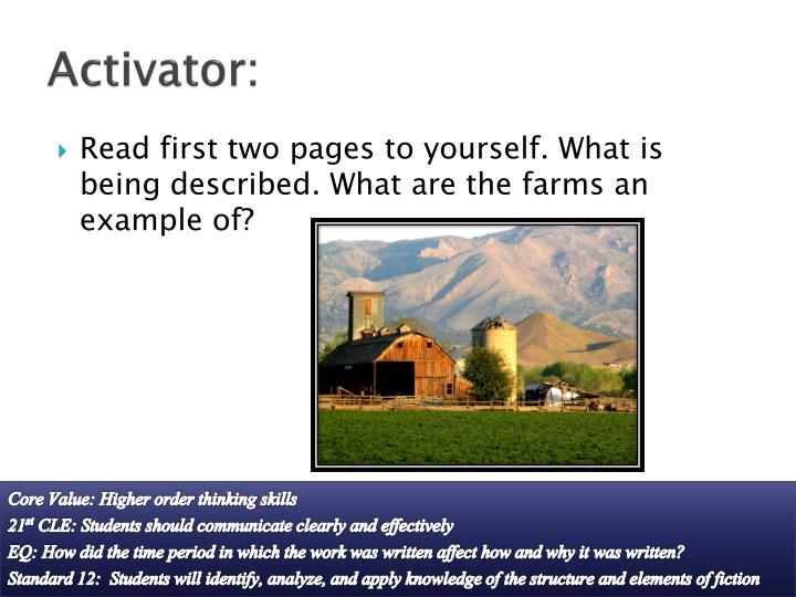 Activator: