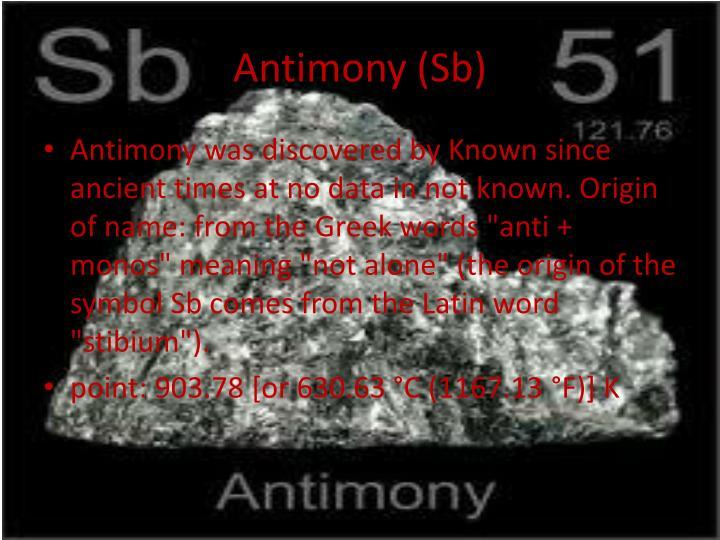 Antimony (