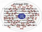 dubnium db