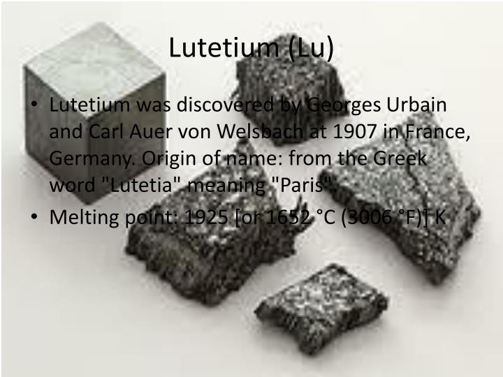 Lutetium (Lu)
