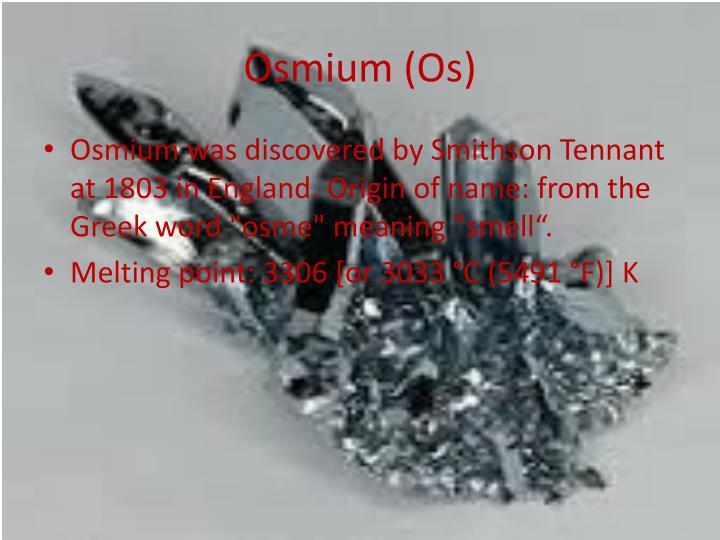 Osmium (