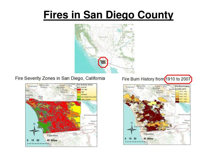 Fires in San Diego County