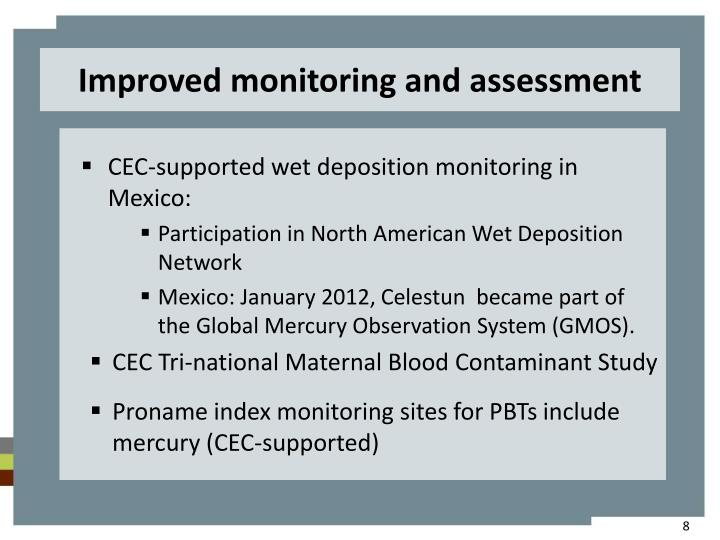Improved monitoring and assessment