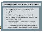 mercury supply and waste management