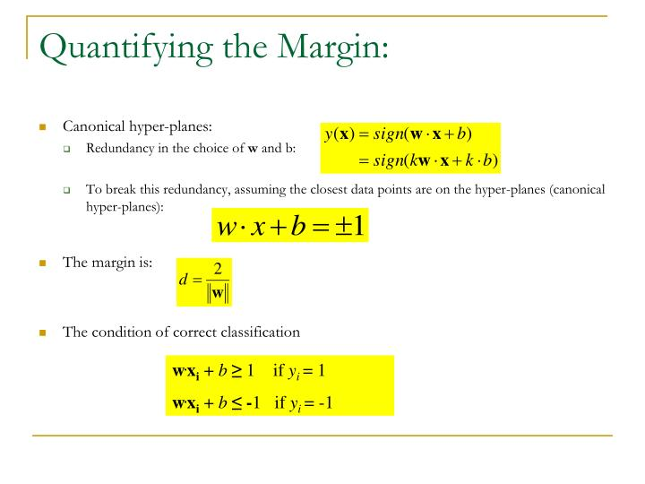 Quantifying the Margin: