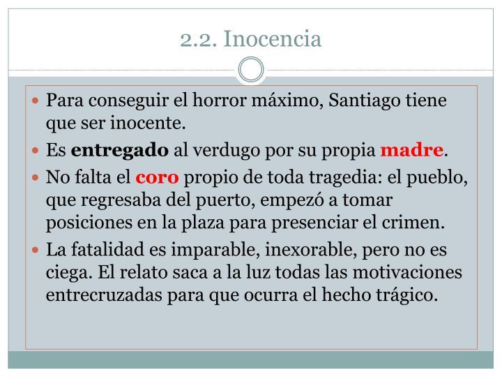 2.2. Inocencia