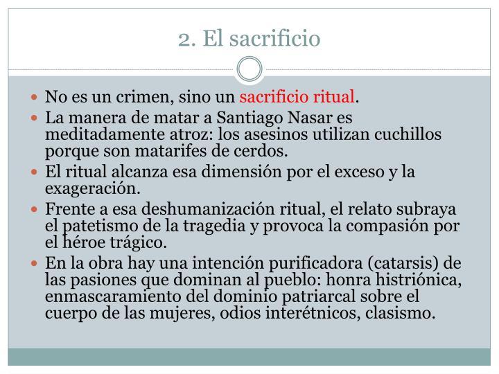 2. El sacrificio