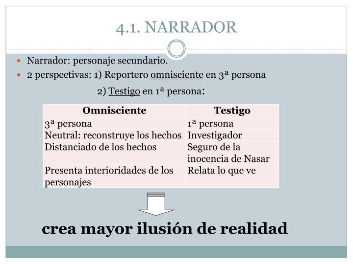 4.1. NARRADOR