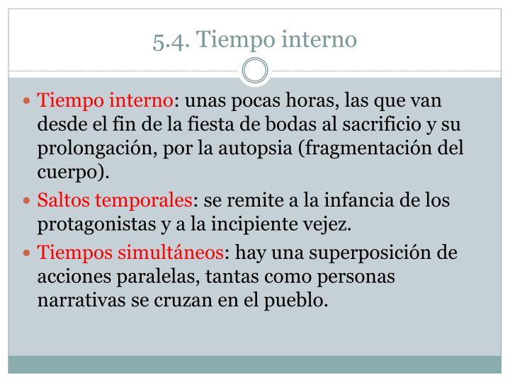 5.4. Tiempo interno