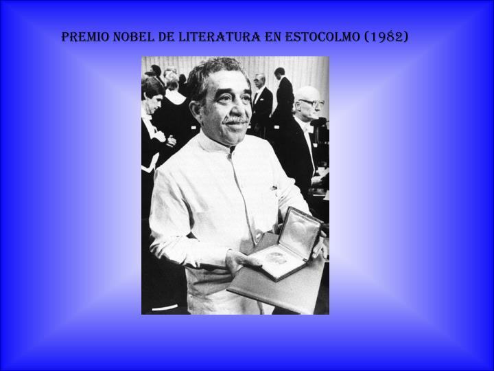 Premio Nobel de Literatura en Estocolmo (1982)