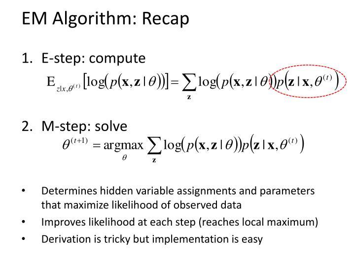 EM Algorithm: Recap