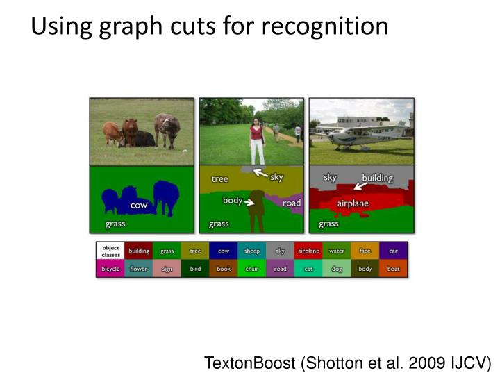 Using graph cuts for recognition
