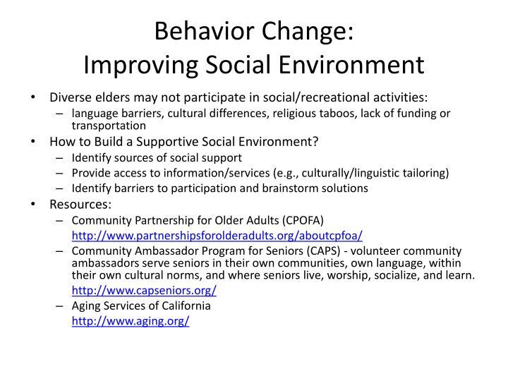 Behavior Change: