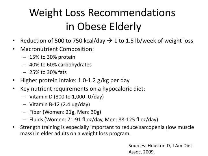 Weight Loss Recommendations