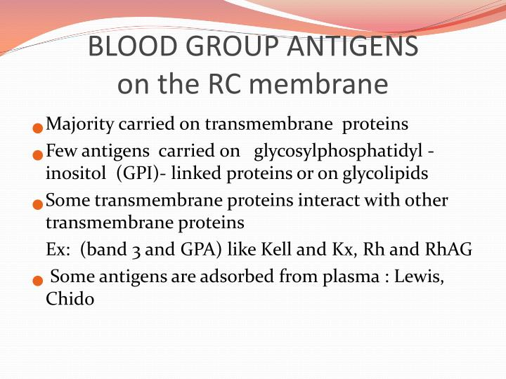 BLOOD GROUP ANTIGENS