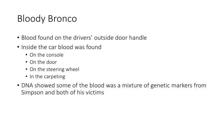 Bloody Bronco