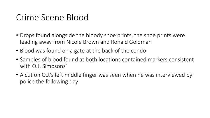 Crime Scene Blood
