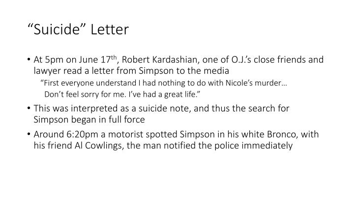 """""""Suicide"""" Letter"""