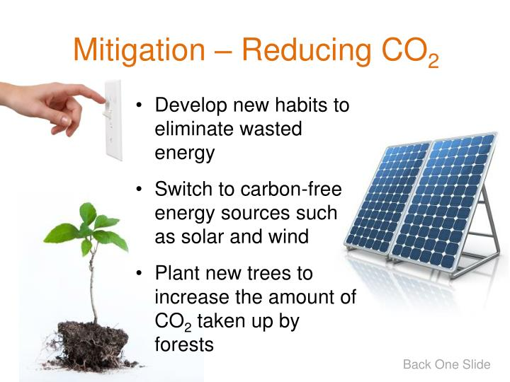Mitigation  Reducing CO