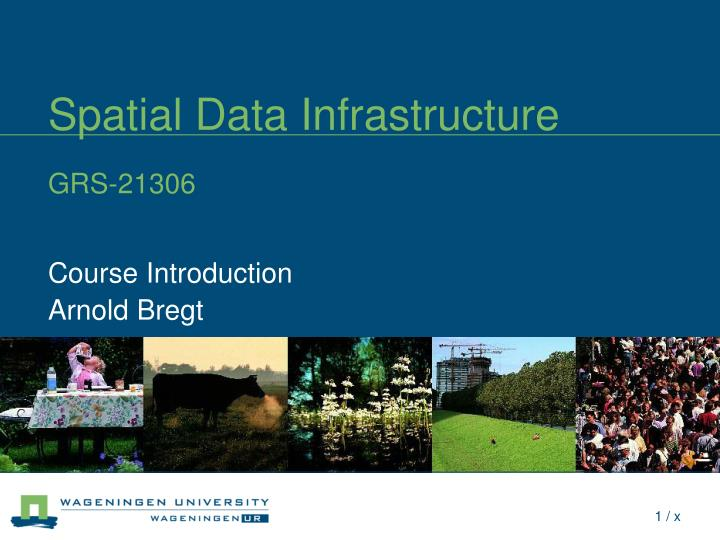 Spatial data infrastructure grs 21306