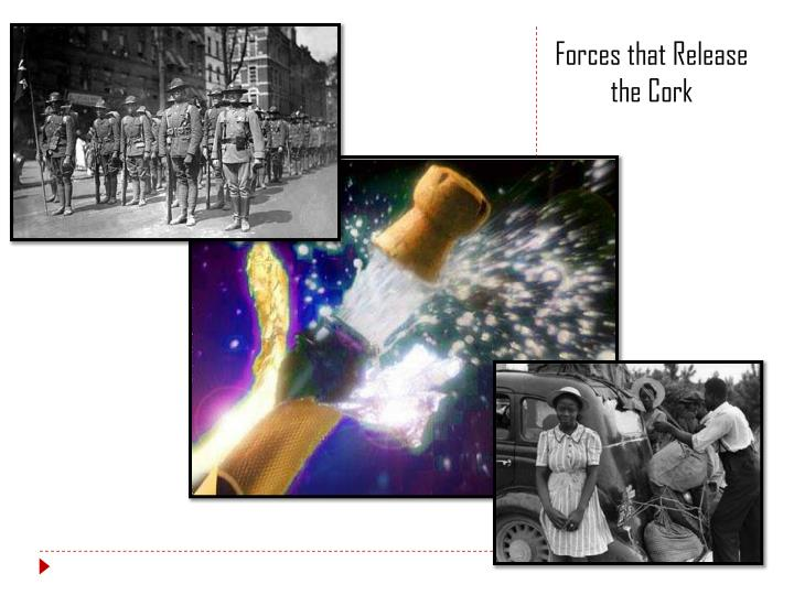 Forces that Release the Cork