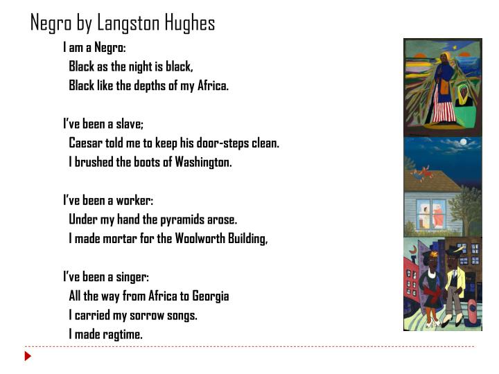 Negro by Langston Hughes