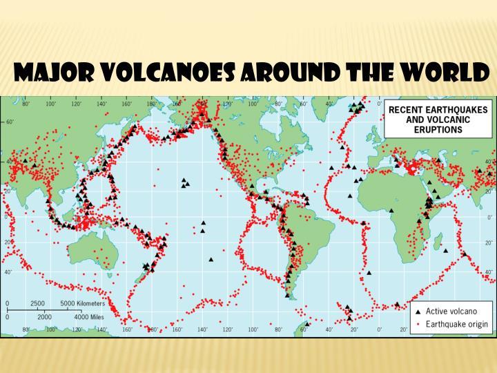 Major Volcanoes Around the World