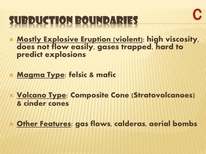 Mostly Explosive Eruption (violent)