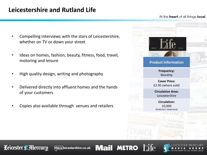 Leicestershire and Rutland Life