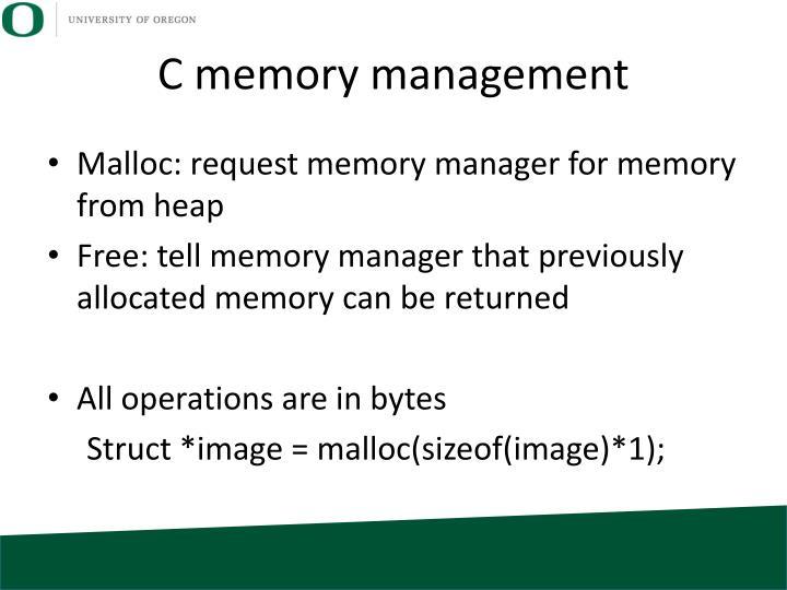 C memory management