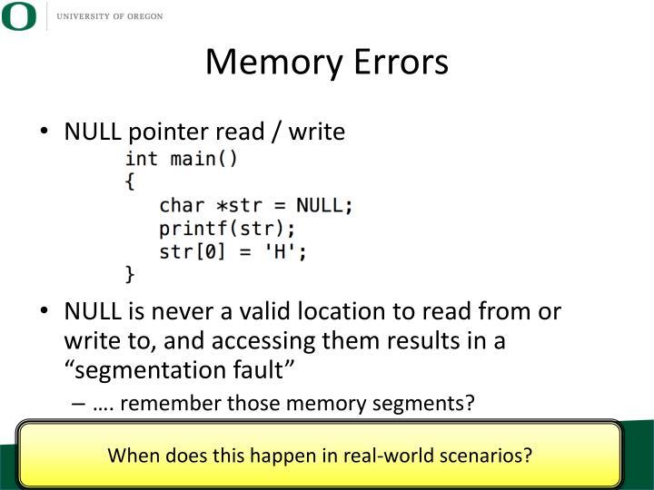 Memory Errors