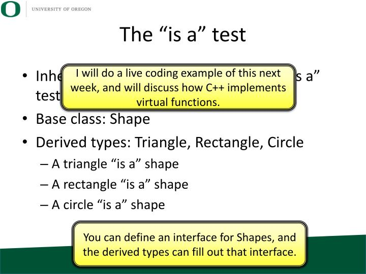 "The ""is a"" test"