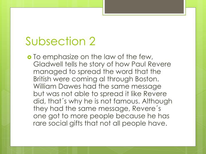 Subsection 2