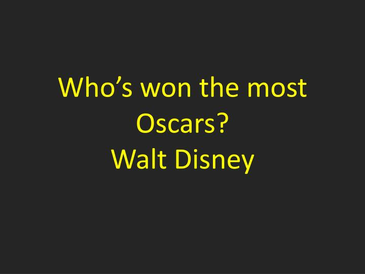 Who's won the most Oscars?
